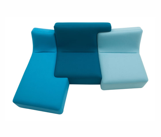 Confluences | 3-Seat Settee/Right Multicolour Version by Ligne Roset | Sofas