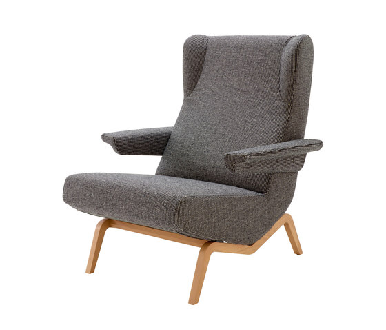 Archi | Armchair Base Cherry-Stained Ash by Ligne Roset | Armchairs