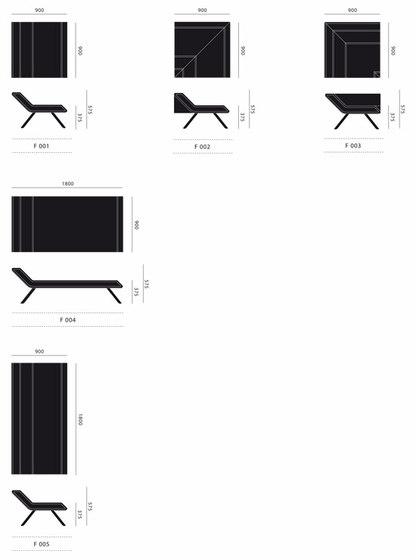 F-series F 004 de JSPR | Chaises longues