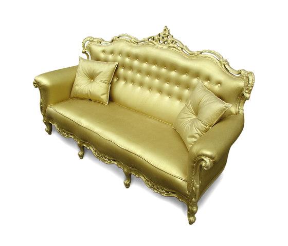 Plastic Fantastic sofa gold by JSPR | Garden sofas