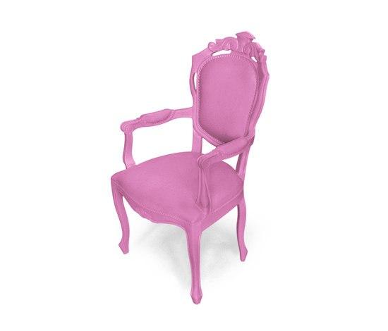Plastic Fantastic dining chair armchair pink de JSPR | Sillas de jardín