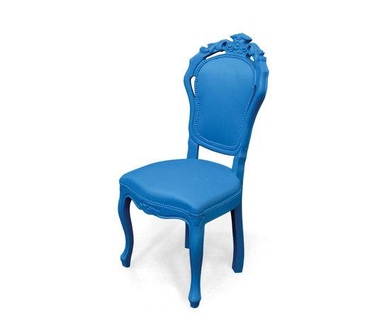 Plastic Fantastic dining chair blue de JSPR | Sillas de jardín