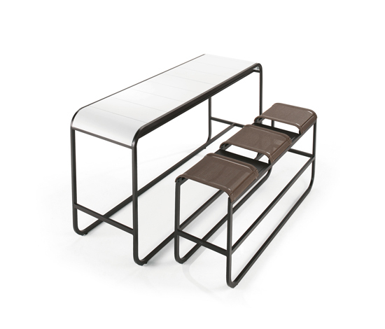 Tandem High Bench & Table by EGO Paris | Bar stools