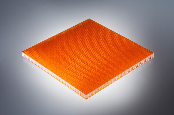 AIR-board® UV PC color | orange von Design Composite | Kunststoff Platten