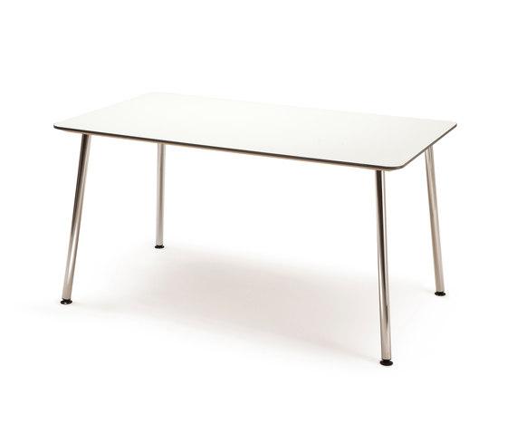 Next Canteen table - 140x80 with corner legs von Fora Form | Kantinentische
