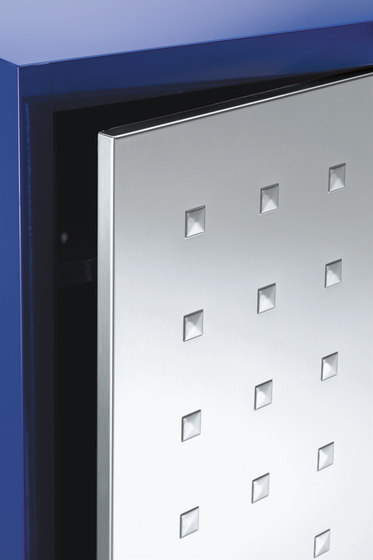 Design Anta Inox | 1 Inox design door locker with partition di Dieffebi | Armadi spogliatoio / Casellari