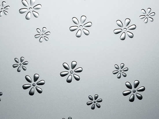 Flowers Silver PF m by SIBU DESIGN | Synthetic panels