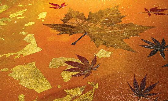 Golden Leaf resin floor by Teknai® S.r.l. | Seamless flooring
