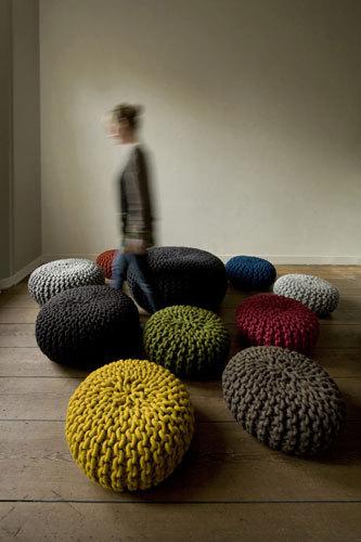 Urchin Pouf by Flocks | Poufs