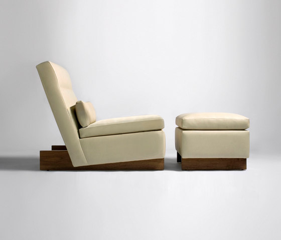 Trax Chair without Arms & Ottoman by Phase Design | Lounge chairs