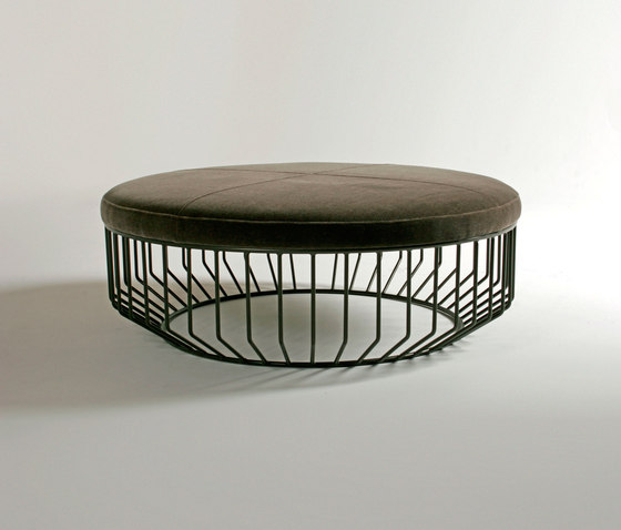 Wired Ottoman by Phase Design | Poufs
