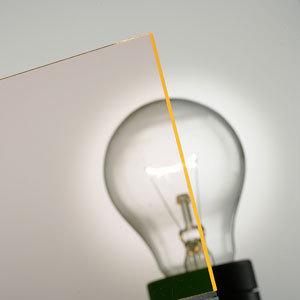 PLEXIGLAS® Fluorescent orange 2C50 GT by Evonik Röhm | Plastic sheets/panels