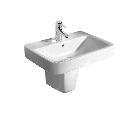 senso square semipedestal by roca wash basins - Roca Wash Basin