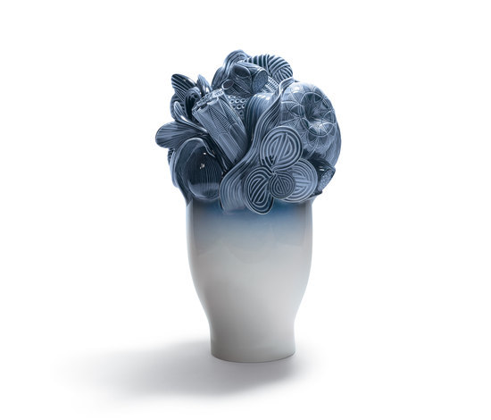 Naturofantastic - Large vase (blue) by Lladró | Vases