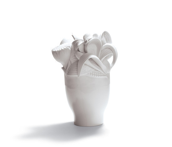 Naturofantastic - Small vase (white) by Lladró | Vases