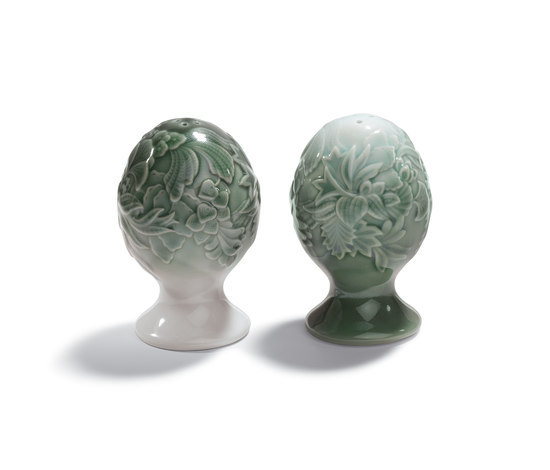 Naturofantastic - Salt & pepper shakers (green) de Lladró | Sel & Poivre