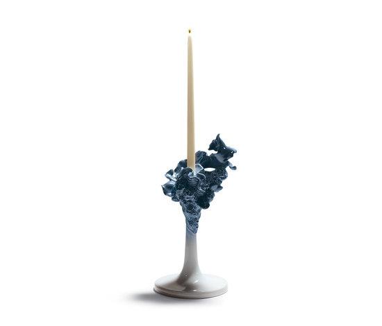 Naturofantastic - Single candleholder (blue) de Lladró | Bougeoirs