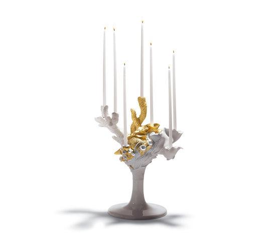 Naturofantastic - Multi candleholder (golden) by Lladró   Candlesticks / Candleholder
