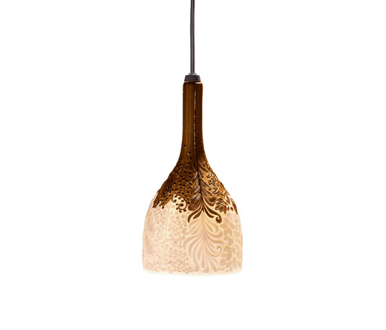 Naturofantastic - Hanging lamp (golden) by Lladró | General lighting