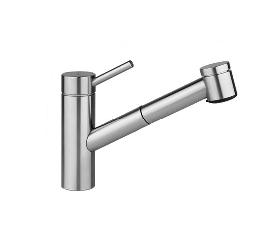 KWC INOX Lever mixer|Pull-out spray with KWC JETCLEAN by KWC | Kitchen taps