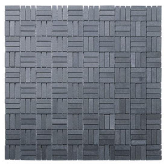 Triplebone lavastone mosaic de Voguebay | Natural stone mosaics