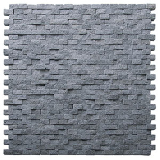 Natural Split lavastone mosaic by Voguebay | Natural stone mosaics