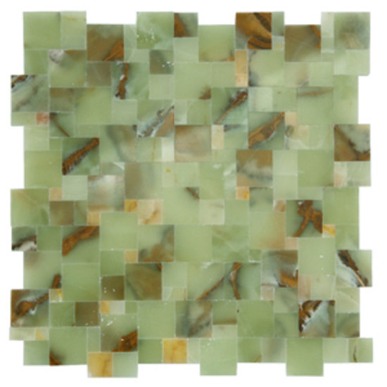 Magic green onyx mosaic by Voguebay | Mosaics