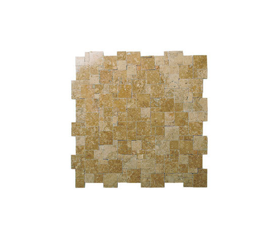 Magic travertine noce mosaic by Voguebay | Natural stone mosaics