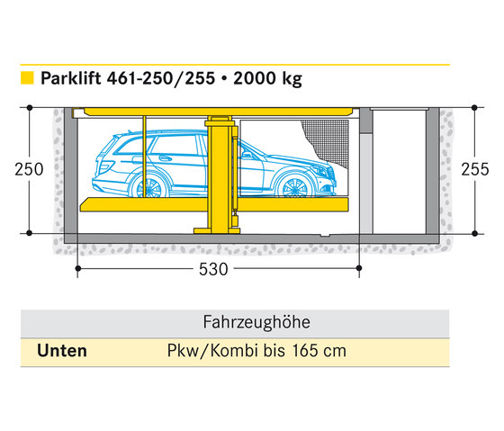 Parklift 461 by Wöhr | Mechanic parking systems