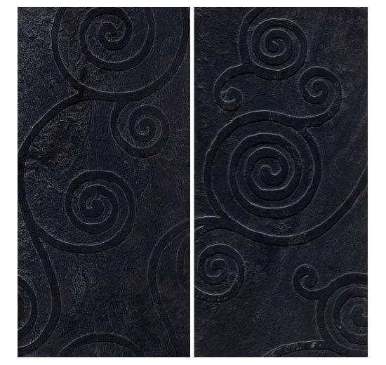 AR 270 VS Ardesia Ligure Spazzolato by Q-BO | Natural stone wall tiles