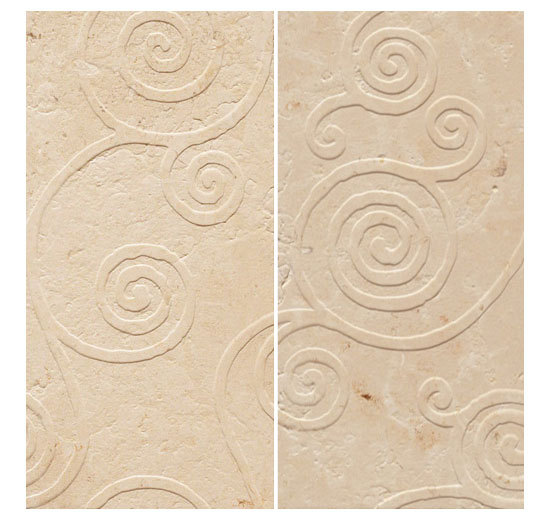 LU 270 VS Crema Luna Spazzolato by Q-BO | Natural stone wall tiles