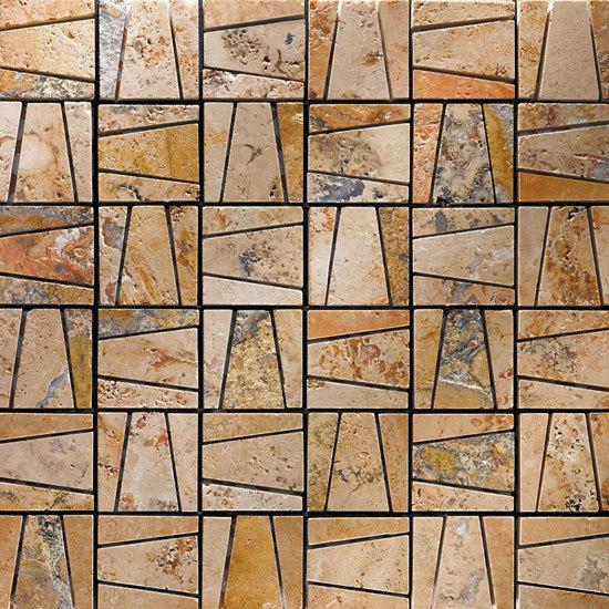 Maya Scabos mosaic by Petra Antiqua srl | Natural stone mosaics