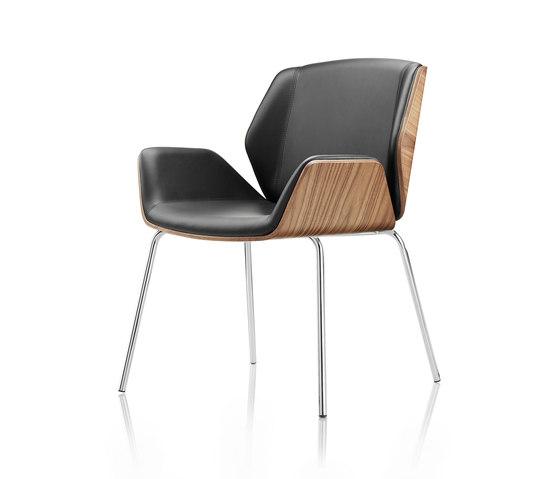 Kruze Meeting Chair - 4 leg di Boss Design | Sedie
