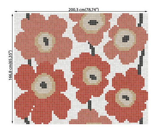Dahlia red von ONIX Cerámica | Glas Mosaike