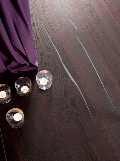 Nero Coral OAK Vulcano silver brushed | white oil by mafi | Wood flooring