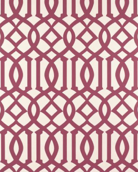 Imperial Trellis Raspberry wallcovering by F. Schumacher & Co. | Wall coverings / wallpapers
