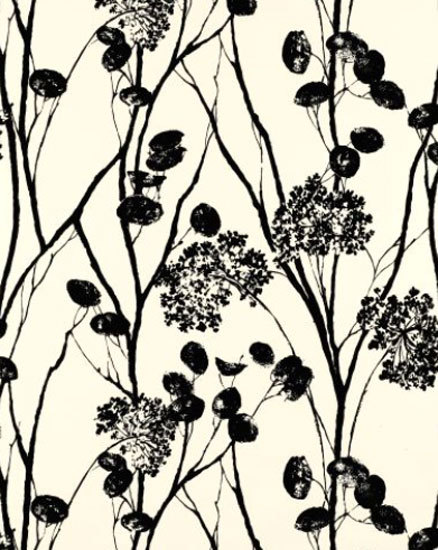 Moonpennies Black and Ivory wallcovering by F. Schumacher & Co. | Wall coverings