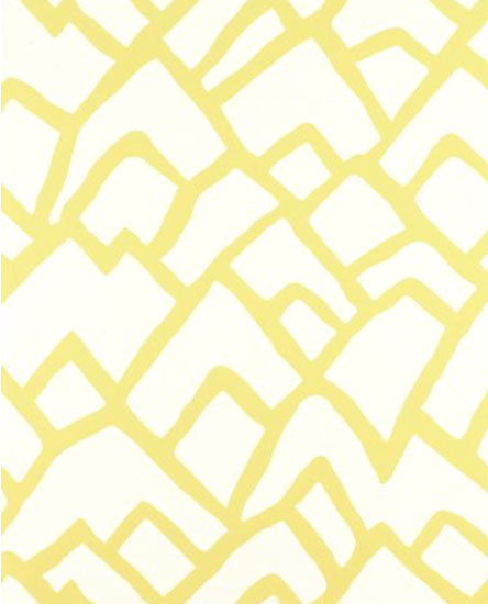 Zimba Soft Chartreuse wallcovering de F. Schumacher & Co. | Papiers peint