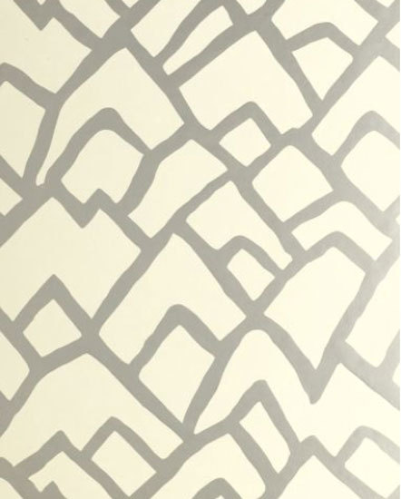 Zimba Silver wallcovering by F. Schumacher & Co. | Wall coverings / wallpapers