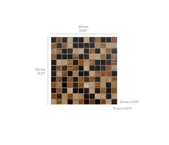 Vesta - Wood Mix di Kuups Design International | Mosaici