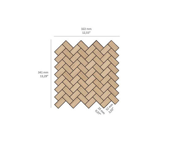 Zig-Zag - Wood by Kuups Design International | Wood mosaics