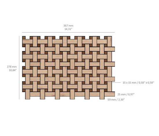 Plaited - Woodmix by Kuups Design International | Mosaics