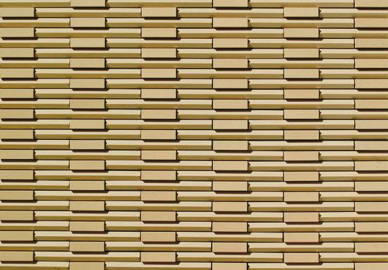 Rhythmic Beige de INAX Corporation   Revestimientos de fachada