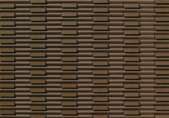 Rhythmic Brown de INAX Corporation   Revestimientos de fachada