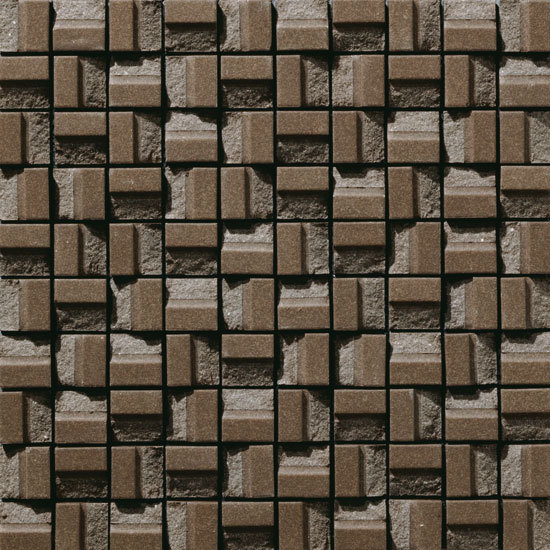 Plateau Block Brown by INAX Corporation | Ceramic mosaics