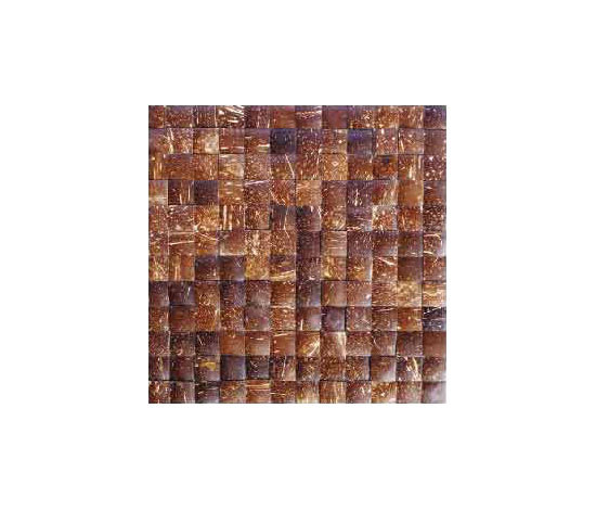 Espresso palm mosaic by Omarno | Recycled coconuts