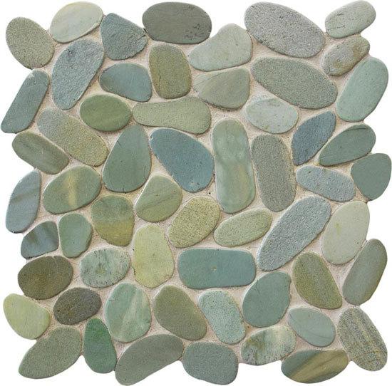 Oval Dia M Green mosaic von Mosaic Miro Production | Naturstein Mosaike