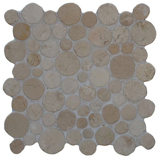 Round Dia M Biancone von Mosaic Miro Production | Naturstein Mosaike