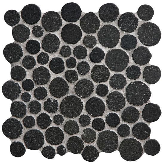 Round Dia M Lava by Mosaic Miro Production | Natural stone mosaics
