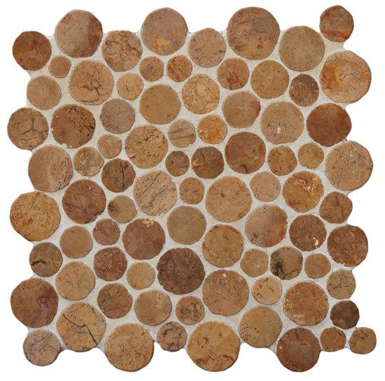 Round Dia M Crema von Mosaic Miro Production | Naturstein Mosaike
